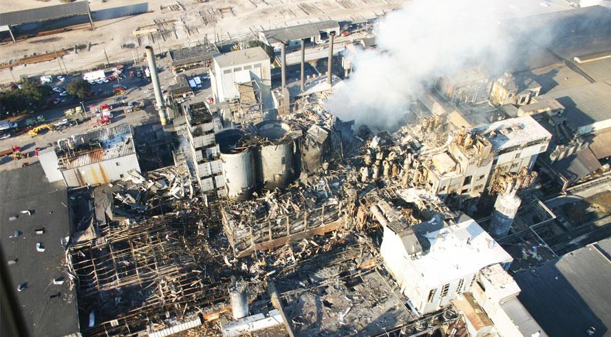 Imperial Sugar Refinery wybuch pyłu cukru