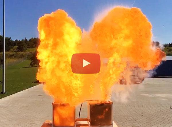Wybuch pyłu na bazie paracetamolu oraz jego propagacja do sąsiedniego zbiornika. Wybuch wtórny jeszcze groźniejszy niż pierwotny