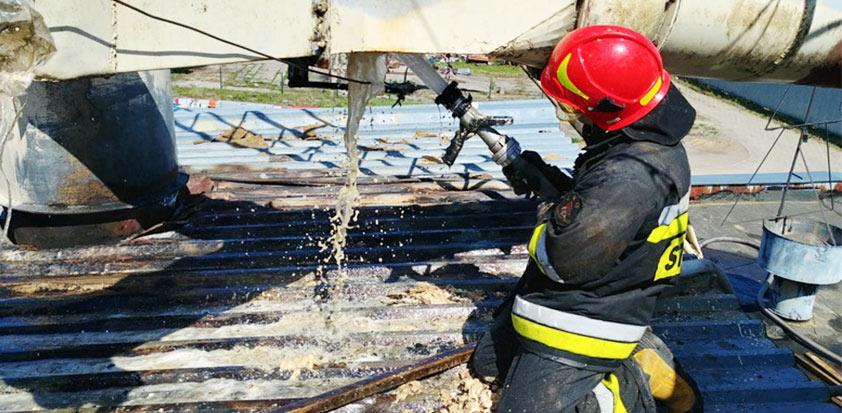 Wybuch i pożar pyłu w zakładzie produkującym pellet
